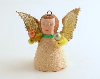 Vintage Angel Christmas Ornament Orchestra Angel West Germany