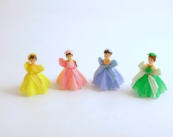 Vintage Bridesmaids Wedding Decoration Cake Toppers