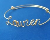 Name Bracelet,Handmade Custom personalized jewelry.14K Gold fill, Sterling Silver 925. Copper .ANY Word up to 11 letters, adjustable Gifts