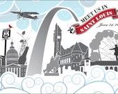 Meet Us In St. Louis Custom Postcards - KELSEY