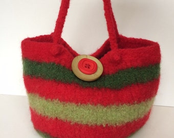 Wool Felted Tote