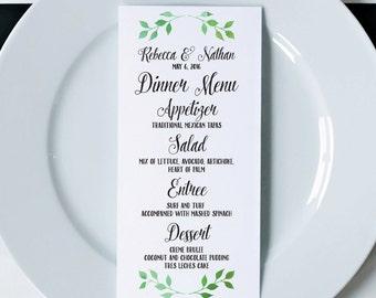 Wedding Menus, Printed Menus, Wedding Dinner Menus, Wedding Menu Cards, Reception Menus, Napkin Menu Inserts, Wedding Reception Decorations