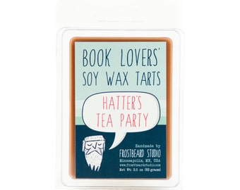 Hatter's Tea Party - Book Candle Tart - Book Lover Gift - Scented Soy Candle Melt - Frostbeard Studio - 3oz Pack - SALE