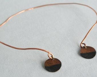 Rough It - Copper Collar Choker Necklace