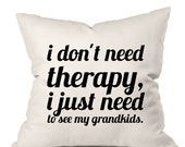 Grandma Pillow, Throw Pillow, Pillow Cover, Glamma Pillow, Gift for Mom, Gift for Grandmother, Decorative Pillow, Quote Pillow, Mother Gift