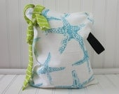 Starfish Wet Bag - Wet Bag Small - Bathing Suit Bag - Wet Bikini Bag - Beach Wet Bag - Waterproof Bag