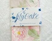 May Day Summer Roses sorbet pink Linen Tea Towel