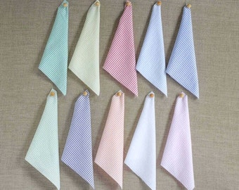 Cotton Seersucker Cloth Napkins by Dot and Army