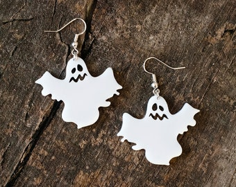 Cute Ghost Earrings // Halloween Jewelry