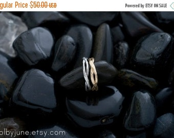 20% Off Sale Twisty Silver Ring | Stacking Ring | Nature Inspired Ring