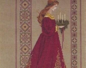 Cross Stitch Pattern, Celtic Christmas Counted Cross Stitch Pattern Booklet by Lavender and Lace Marilyn Leavitt-Inblum