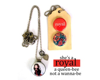 ROYAL Locket Necklace - Royal Jewelry, Gift for Teen, Gift for Preteen, Magnetic Jewelry, 3 in 1 Locket, Archetype, Polarity, Solocosmo