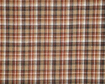 Plaid Homespun Material | Primitive Material | Cotton Material | Rag Quilt Material | Doll Making Material | Home Decor Material | 1 Yard