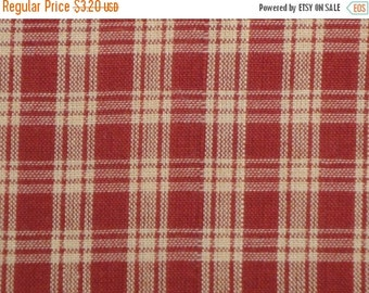 40% OFF SALE Basic Plaid Wine Cotton Homespun Fabric  20 x 44