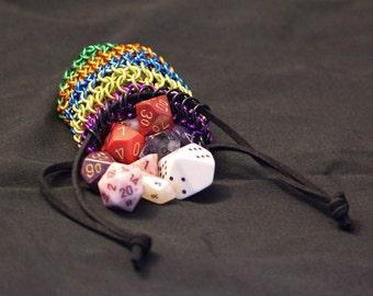 Multicolor Chainmail Dice Bag