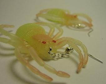 Glow In The Dark Spider Earrings