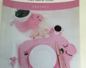Little Piggy Place Mat, Crochet Pattern, Herrschners, Trivets