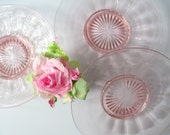 Vintage Pink Salad Plates Set of Three