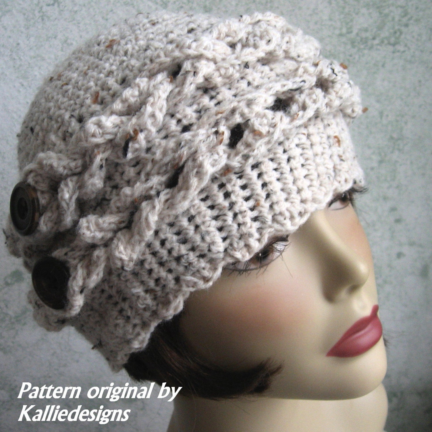 Crochet Hat Pattern Womens Or Teen Crochet Hat With Braid And