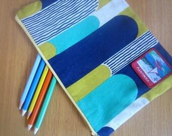Japanese cotton zip pouch