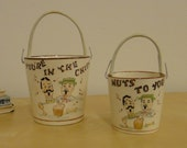 Vintage Party Snack Buckets - You're in the Chips, Nuts to You
