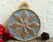 Ceramic Mandala Christmas Ornament