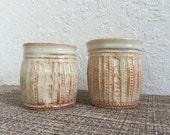 Stoneware Tumbler Set Ceramic Wheelthrown Pottery