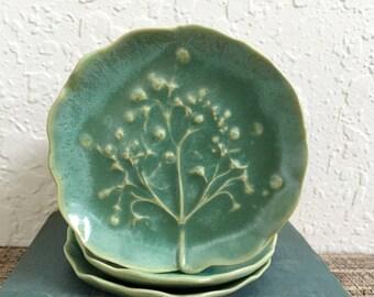 Handmade Ceramic Dish -Tree of Life - Ceramic Soap Dish - Ceramic Trinket Dish - Handmade Pottery