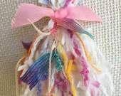 Cotton Candy Poufy Yarn Tassel