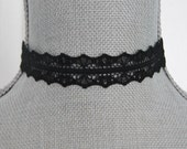 Black Lace Choker Necklace, Gothic, Halloween Choker, Vampire, Victorian,Black Choker,Lace Choker