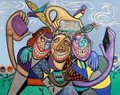 Say Cheese Selfy Office Dental Art Anthony Falbo