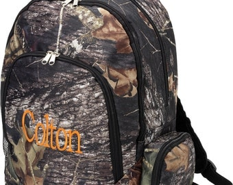Boys Personalized Backpack Camouflage School Monogrammed Camo