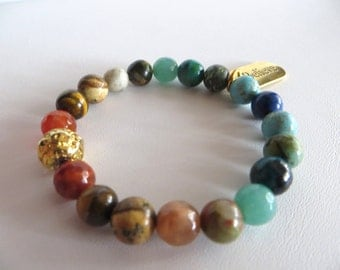 Multi Gemstone Energy Bracelet, Gemstone Bracelet