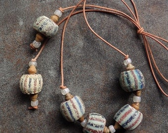 A Speo Chevron Beads from the 1600s-1700s African Trade