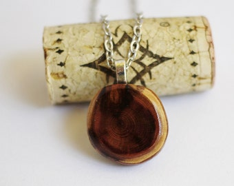 Reclaimed Wood  Red Cedar Wood Necklace Wood Branch Pendant Wooden Sustainable Eco-Friendly Handmade Jewelry by Hendywood