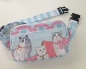 Body Bag / Waist Pouch / Hip Bag --- Royal Cat