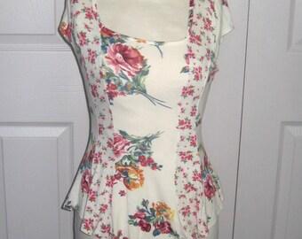 peplum rose shirt . peplum Tee . rose shirt . floral Tee . floral peplum