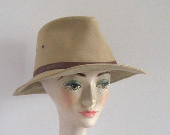 Gentleman's Canvas hat .  REI . size L Cotton Hat . Safari Explorer Hat . Outback Hat