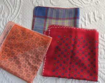 Vintage Hankies Lot of 3