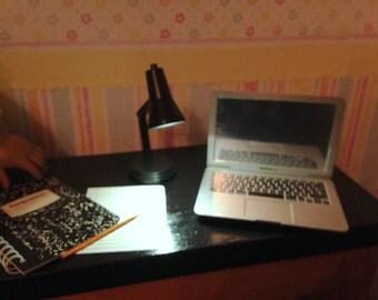 American Girl size laptop computer