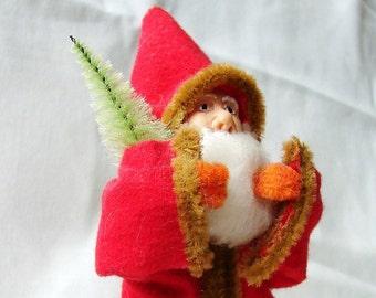 Early Santa Claus Long Fur Trimmed Coat