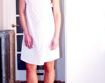 White Eyelet Dot Dress