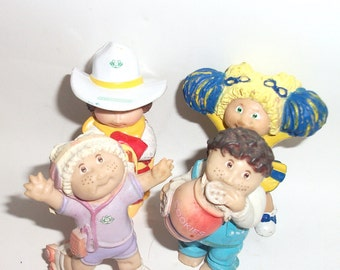 4 Vintage Cabbage Patch Kids Doll Figures Cabbage Patch Dolls