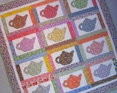 VINTAGE TEAPOTS Applique Quilt from Quilts by Elena 1930's Reproduction Fabrics