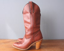 vintage 80s capezio boots / western boots / cowgirl boots / size 5.5