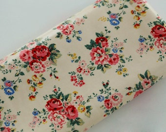 4093 - Cath Kidston Spray Flowers (Light Beige) Oilcloth Waterproof Fabric - 28 Inch (Width) x 17 Inch (Length)