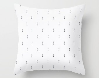Arrow Pillow Cover Navy Pillow Tribal Pillow Throw Pillow Mini Arrow Pillow White Pillow Decorative Pillow