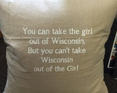 Wisconsin Girl Pillow (cover only)