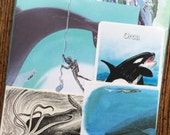 RESERVED for Elisa Whale of a Tale Vintage Ocean Collage, Scrapbook and Planner Kit Number 2013