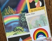 Rainbows and Prisms Vintage Science Collage, Scrapbook and Planner Kit Number 2027